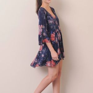 """Free People dress """"eyes on you"""" floral tunic dress"""